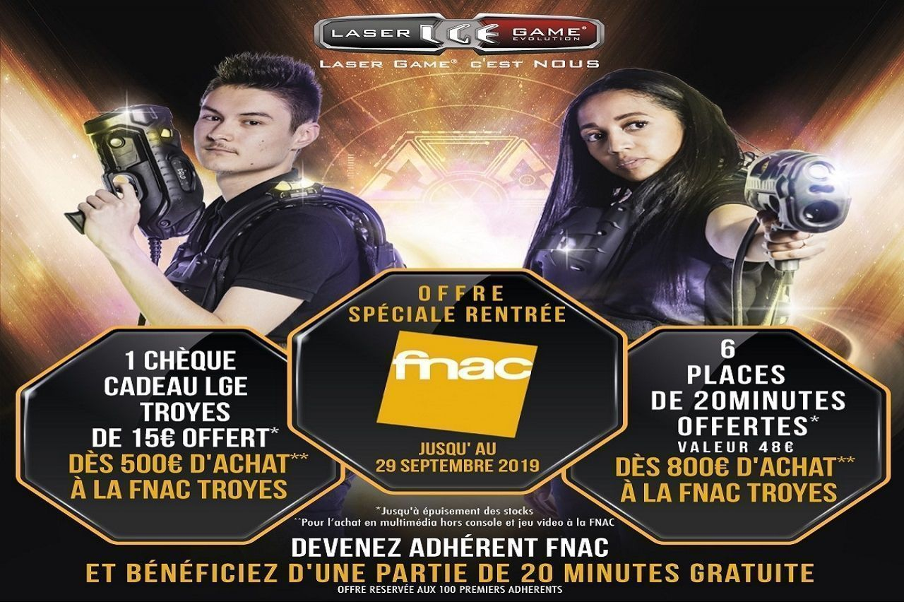 FNAC - FNAC et Laser Game Evolution !