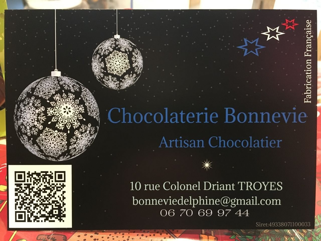 Chocolaterie Bonnevie - Ballotin de chocolats praliné assortiment  440 gr net