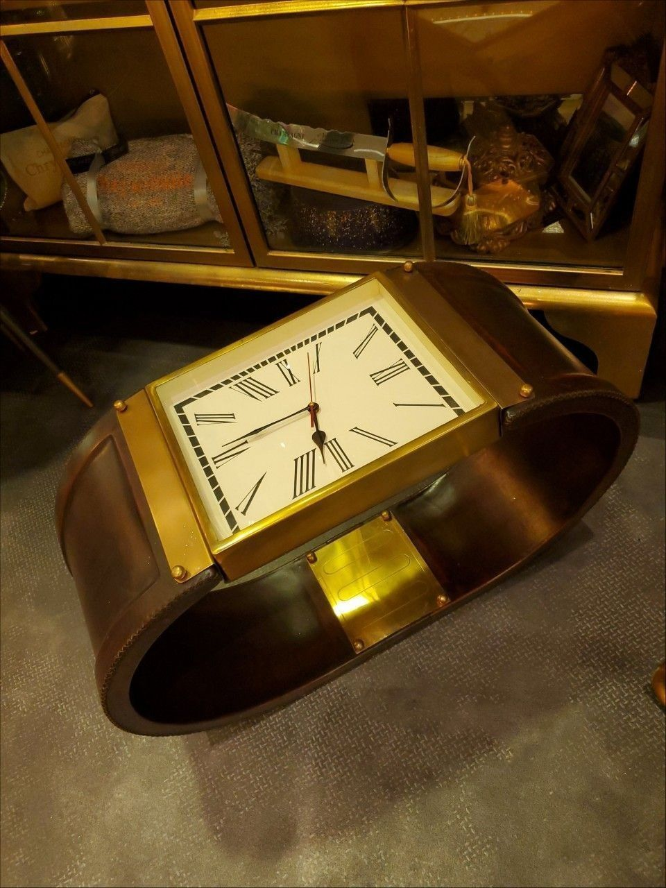 CHRYSOBULLE BY PRIE - CHAMPAGNE - Table basse montre/ horloge